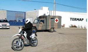 """Simulacro"" anti insurreccional en Caleta Olivia"