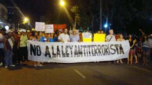 Chaco: masiva movilización contra la ley antiterrorista y en defensa de los recursos naturales