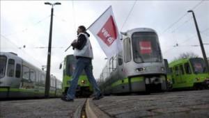 Alemania paralizada por reclamos salariales