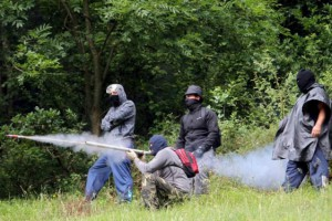 Mineros españoles en pie de lucha