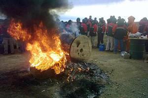 """La """"paz social"""" hecha añicos por la lucha genuina de los trabajadores"""