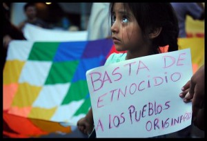 9 de Febrero en Saenz Peña, CHACO. Convocatoria: Los monopolios traen muerte la lucha y la unidad del pueblo es vida