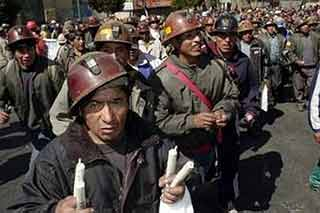 Bolivia: con unidad y dinamita los mineros salieron a la huelga