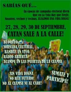 Unidad revolucionaria en González Catan contra el CEAMSE