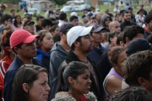 ¡Los vecinos frenan el desalojo en la ocupación La Esperanza, de Alejandro Korn!