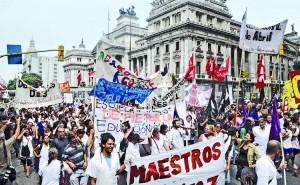Conflicto docente, una lucha de todo el pueblo trabajador