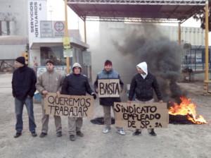 Trabajadores del Puerto de Rosario en lucha
