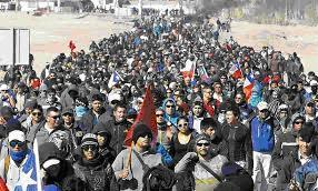 La lucha de los obreros de Codelco en Chile