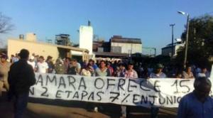 El Pueblo Taninero marcha con dignidad – Los obreros del tanino cumplen más de 20 días de huelga