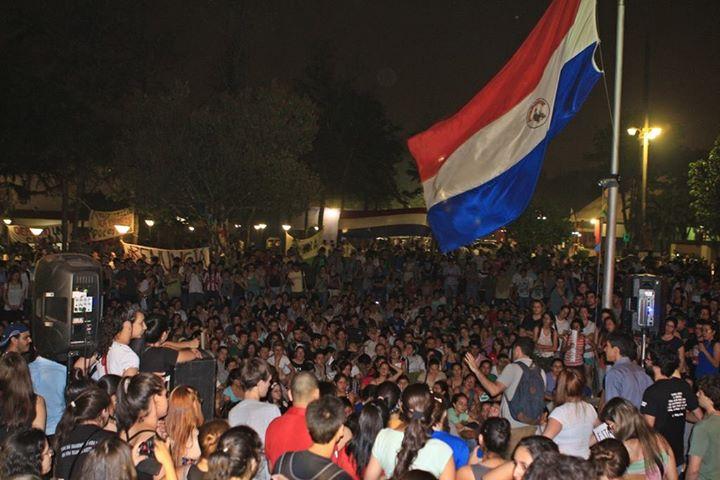 Movilización estudiantil en Paraguay