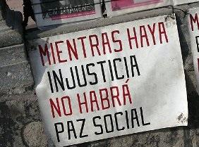 """La """"paz social"""" está quebrada en nuestro país"""