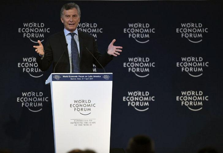 """Macri: el paro, """"su"""" gente en la calle y el """"mini"""" Davos"""