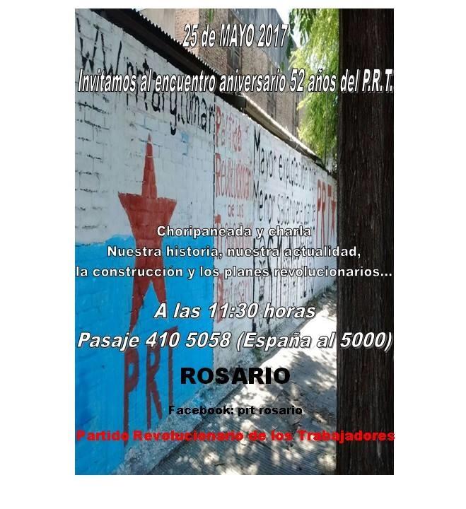 Acto del PRT en Rosario