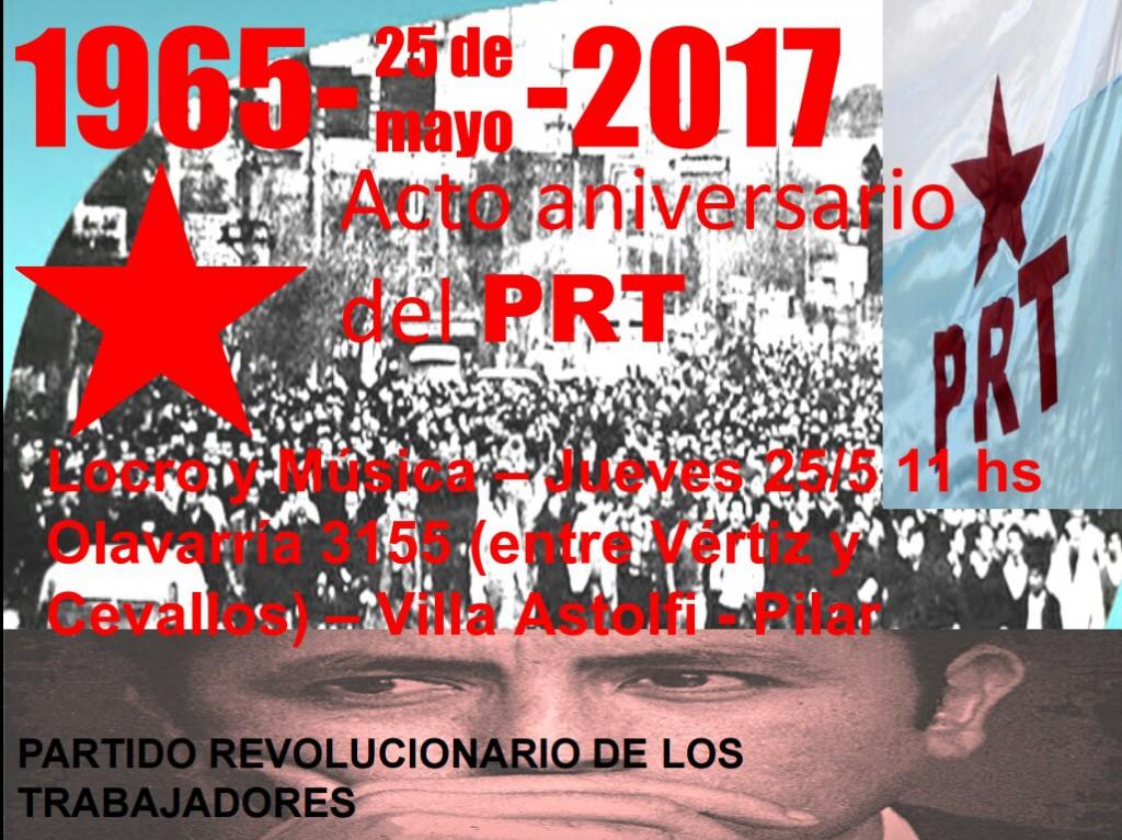 Acto del PRT en Pilar