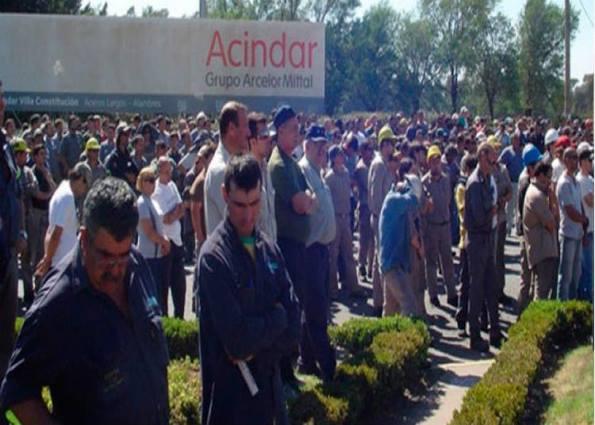 Acindar: se plantan los trabajadores contra el achique salarial