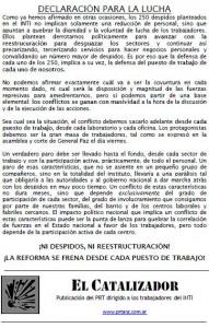 INTI: ¡NI DESPIDOS, NI REESTRUCTURACIÓN!