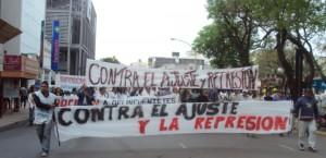 Movilización en Chaco.