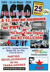 Acto PRT 25 de Mayo 2018