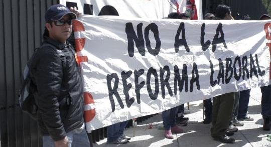 Reforma Laboral en contra del pueblo trabajador