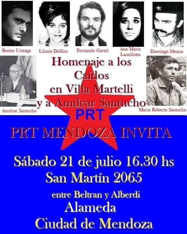 Acto del PRT en Mendoza