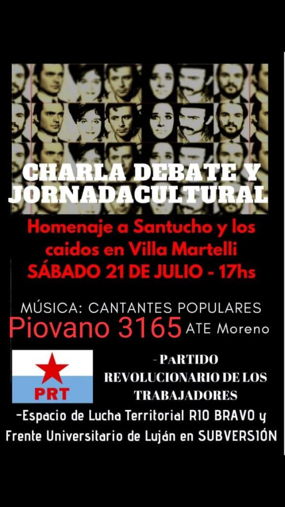 Acto del PRT en Moreno