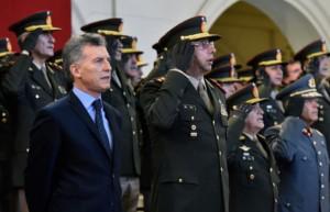 Macri, FFAA y seguridad interior