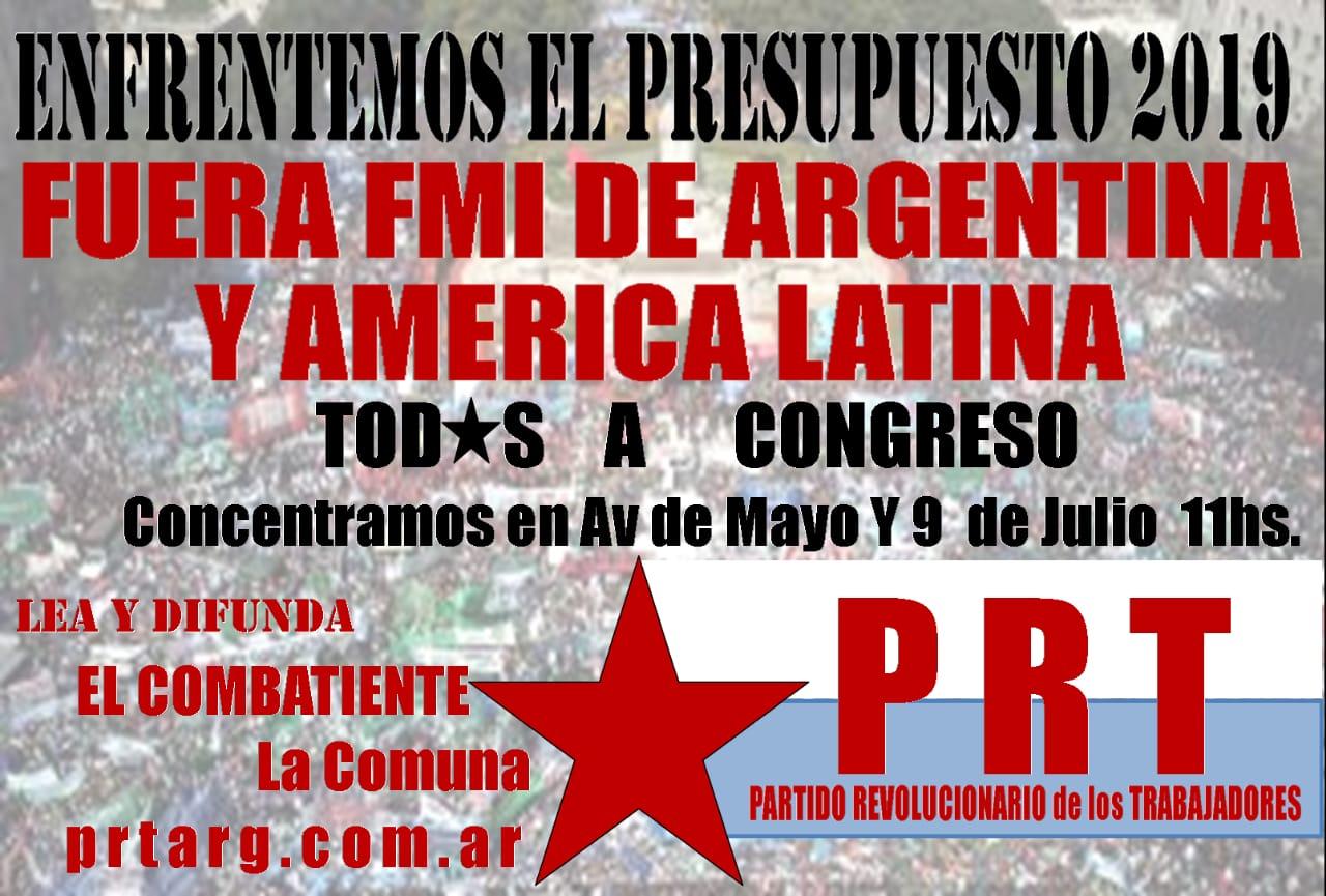 Convocatoria del PRT: 24 de Octubre, 11 hs.