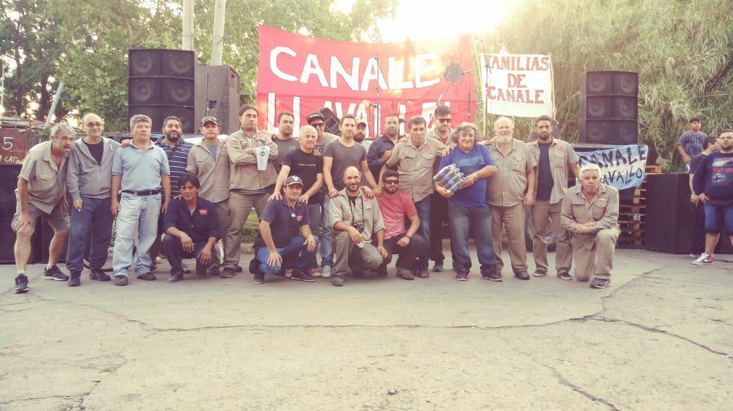 Toda la solidaridad con los obreros de Canale (Llavallol)