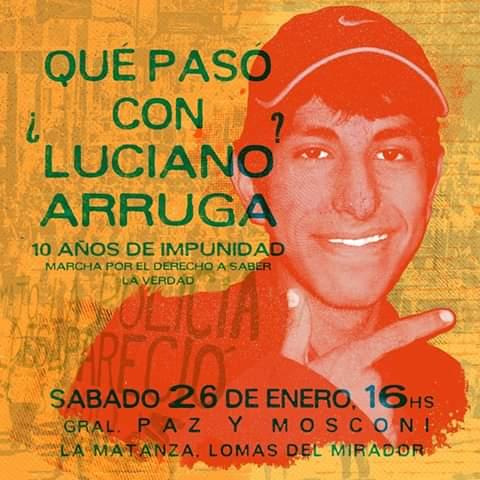 10 años sin Luciano Arruga: 10 años de impunidad, 10 años de lucha, ¡¡hay una salida!!!