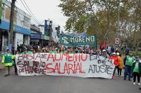 Trabajadores municipales de Moreno en lucha