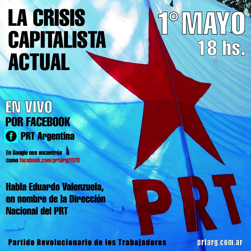 El PRT transmite en vivo por Facebook el 1° de Mayo. Sumate!!!