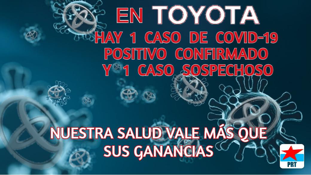 Resultado positivo de coronavirus en un obrero en la planta de Toyota