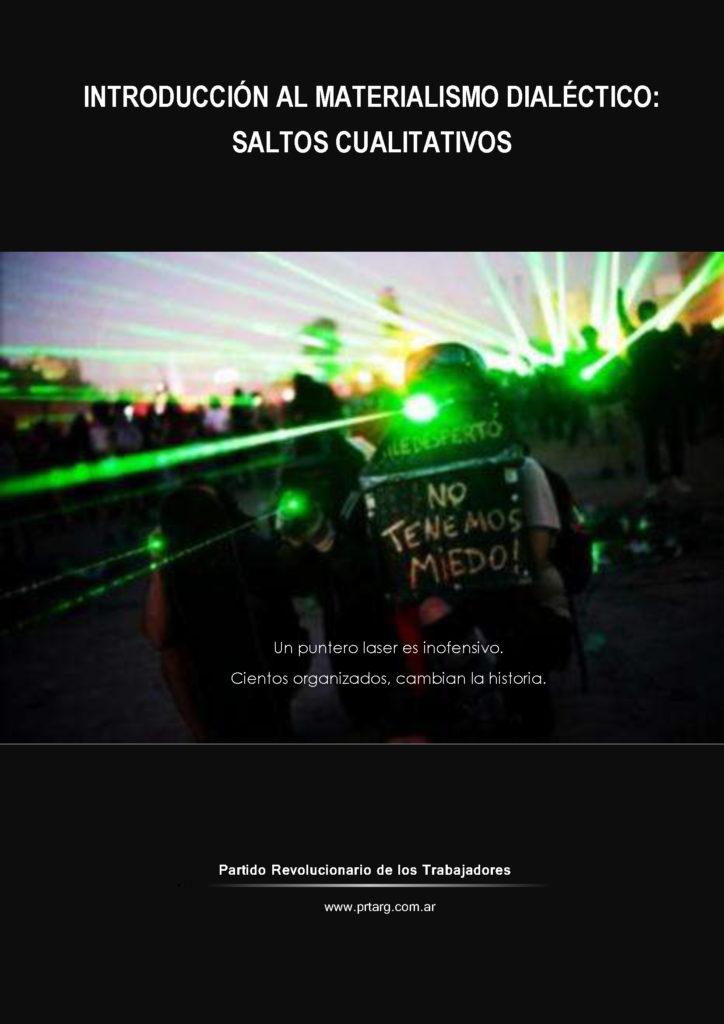 "Folleto ""Introducción al materialismo dialéctico: saltos cualitativos"""