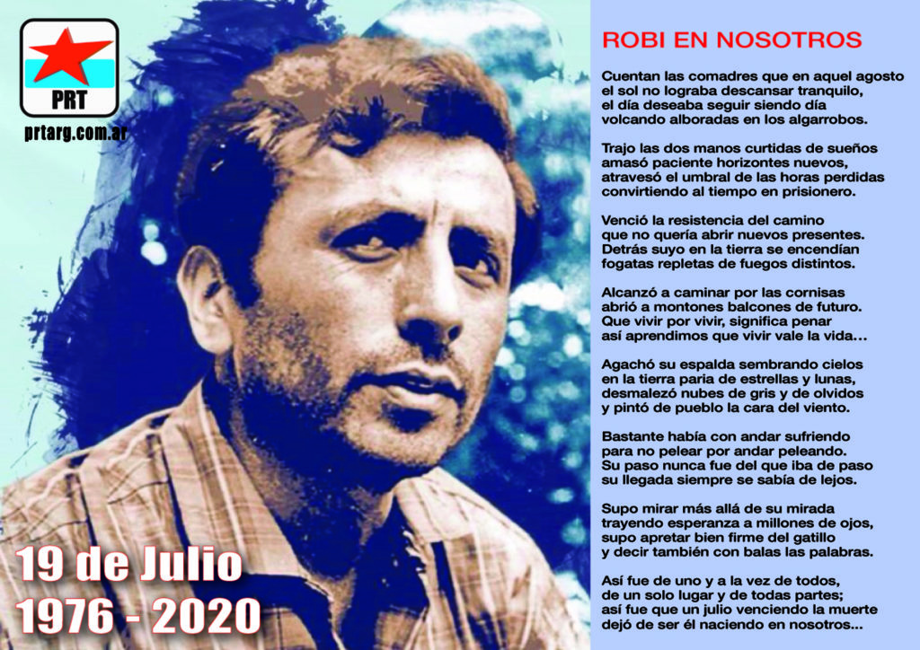Santucho VIVE en la lucha del pueblo