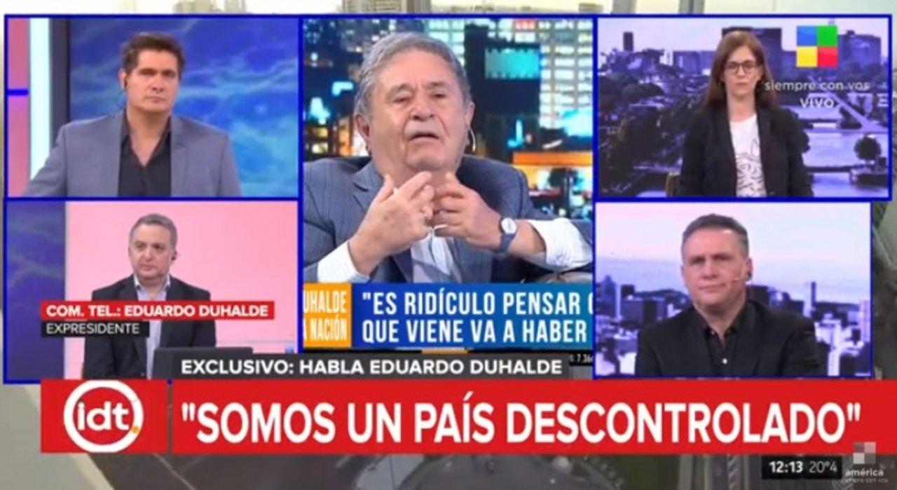 El ex presidente Duhalde pretende abrir el paraguas antes del chaparrón