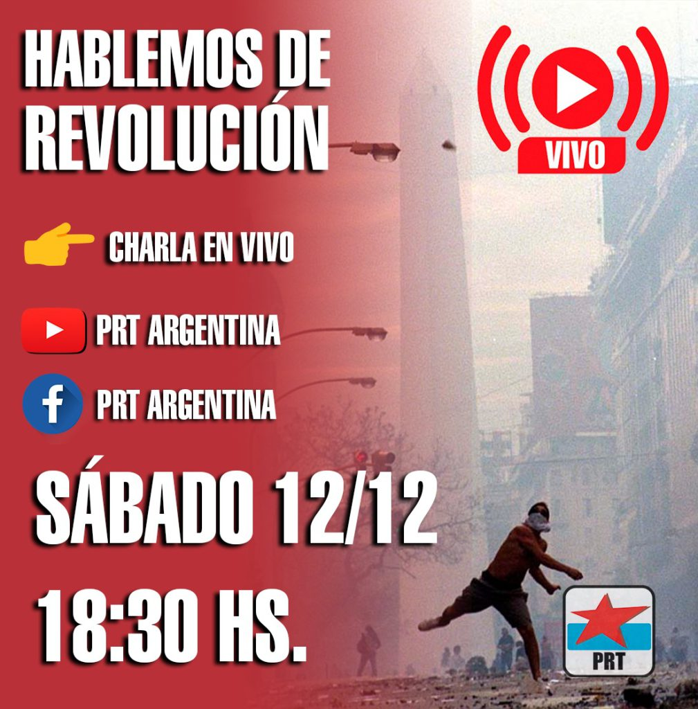 HABLEMOS DE REVOLUCIÓN  Charla en VIVO Sábado 12/12 18:30 hs.
