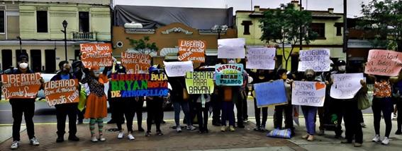 """Perú: libertad a los presos políticos del operativo """"Olimpo"""""""