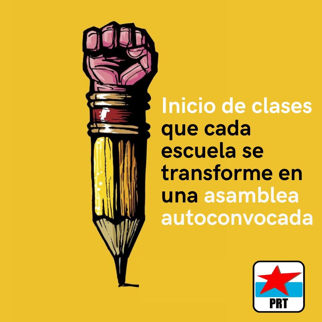 Vuelta a las clases presenciales: asambleas por escuela, fuera los aparatos sindicales