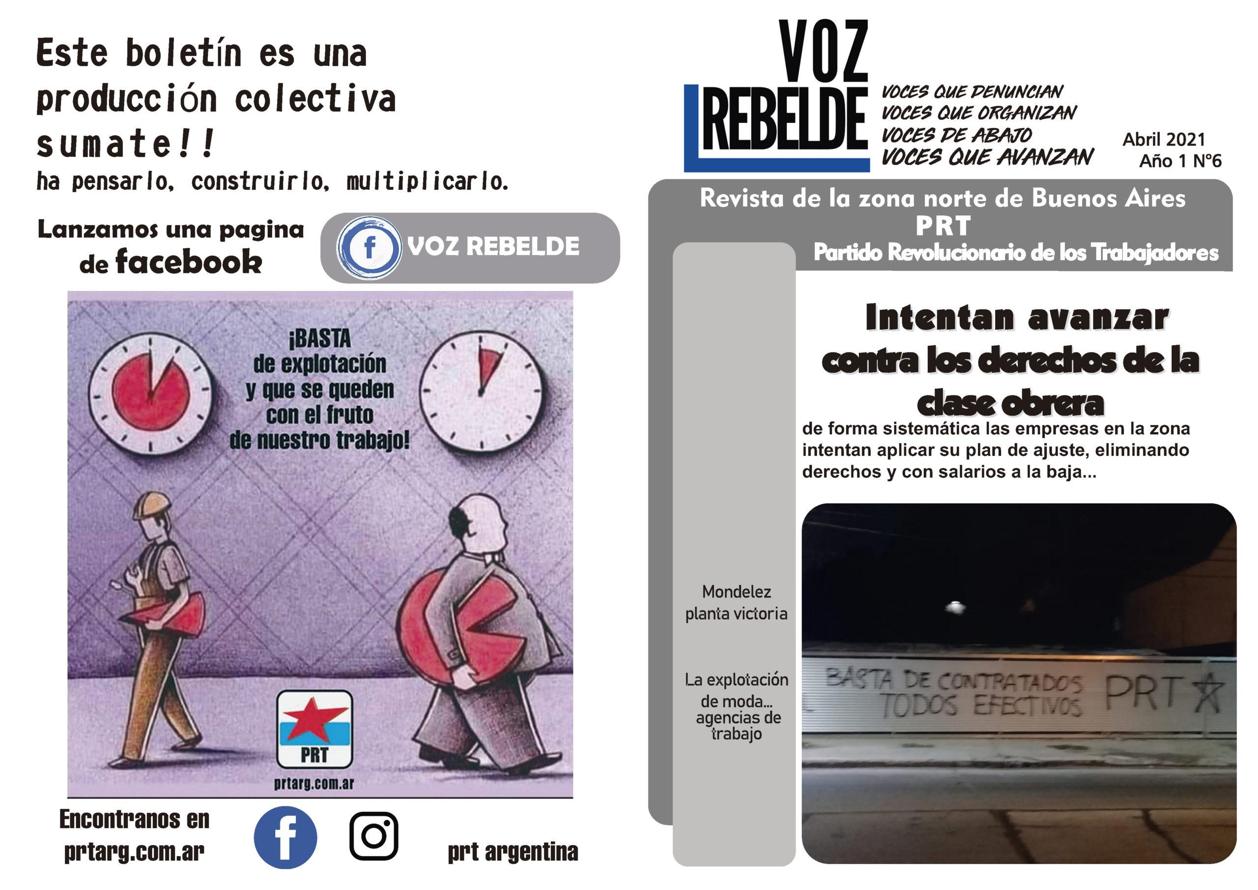 Voz Rebelde – Editorial Abril 2021