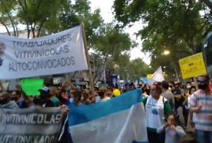 CONTUNDENTE MOVILIZACION DE VITIVINICOLAS AUTOCONVOCADOS EN TODO EL PAÍS